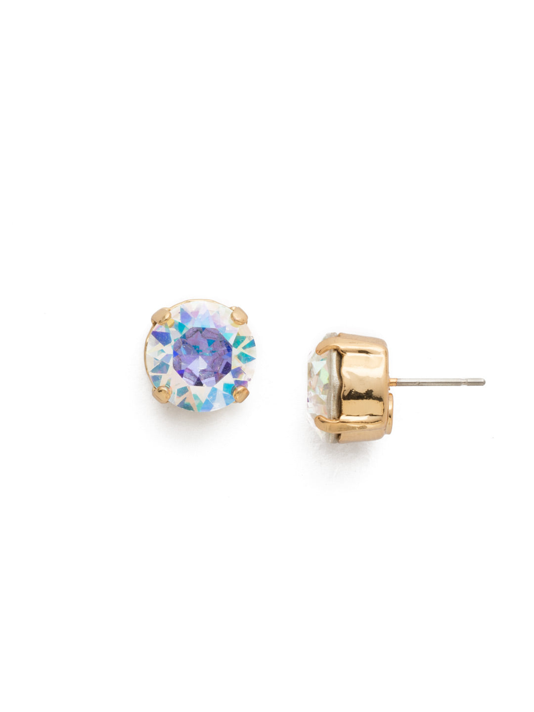 Round Crystal Stud Earrings - ECM14BGCAB