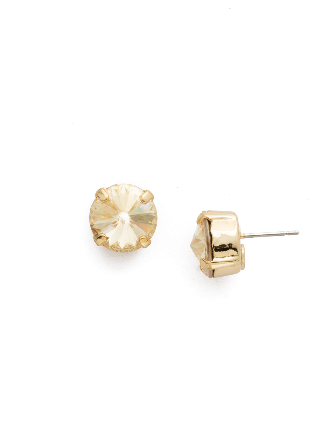 Round Crystal Stud Earrings - ECM14BGCCH