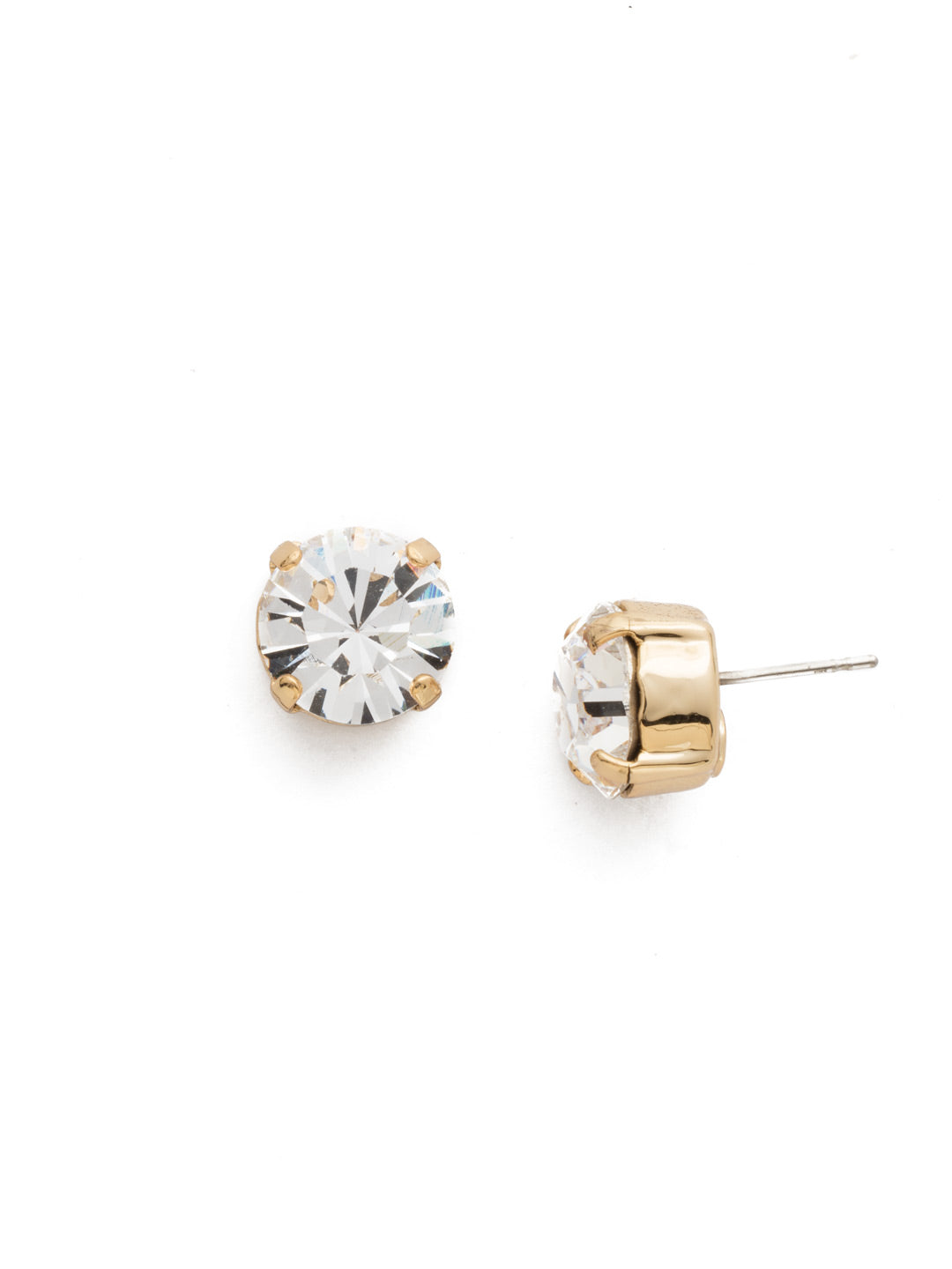 Round Crystal Stud Earrings - ECM14BGCRY
