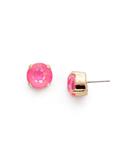 Round Crystal Stud Earrings - ECM14BGISS