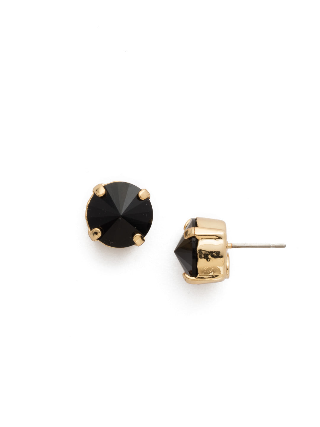 Round Crystal Stud Earrings - ECM14BGJET