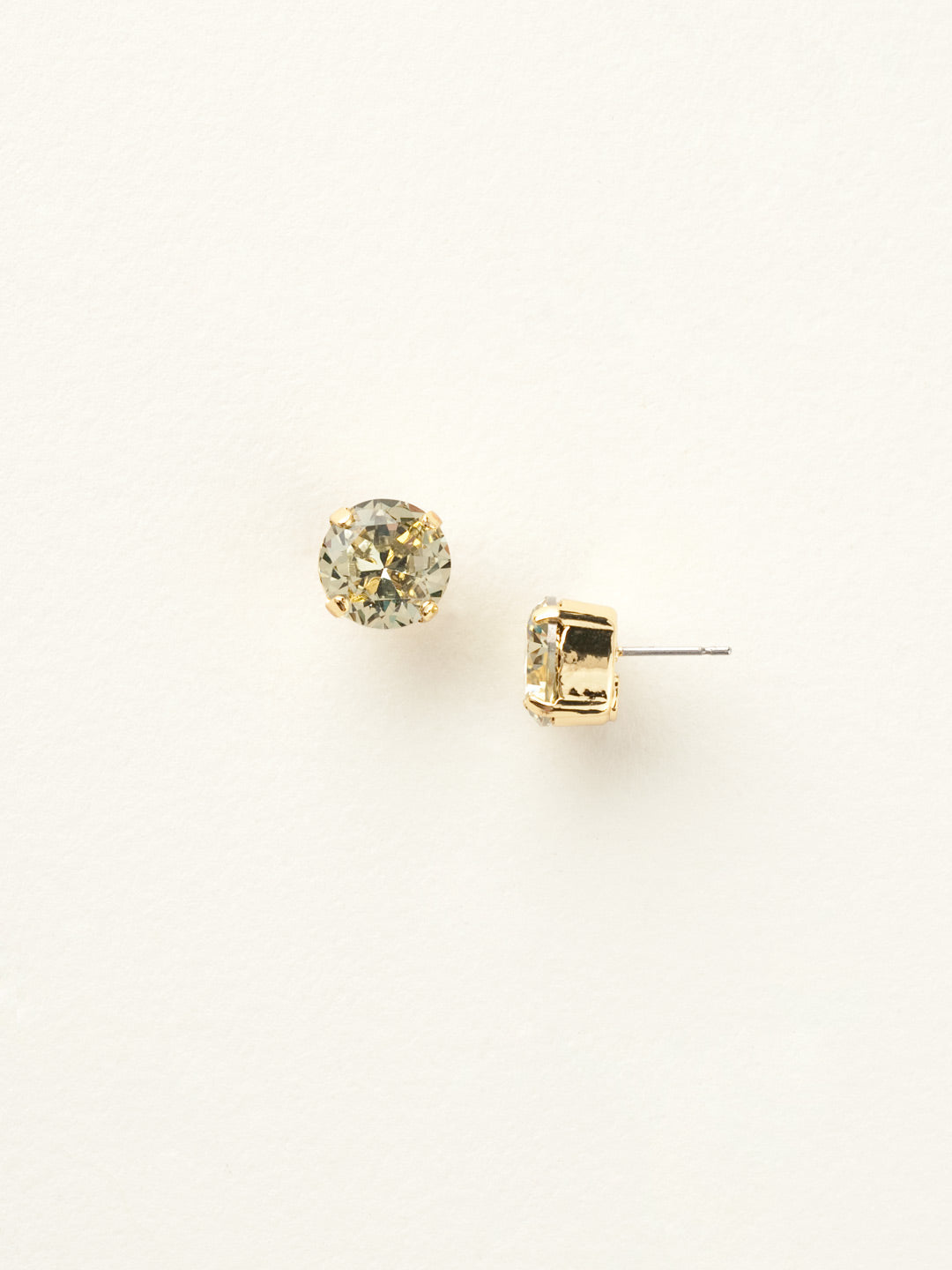 Round Crystal Stud Earrings - ECM14BGJON