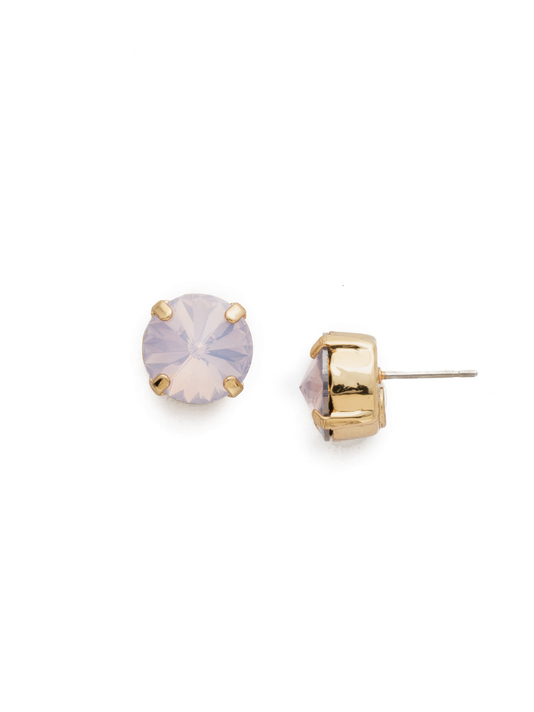 Round Crystal Stud Earrings - ECM14BGROW