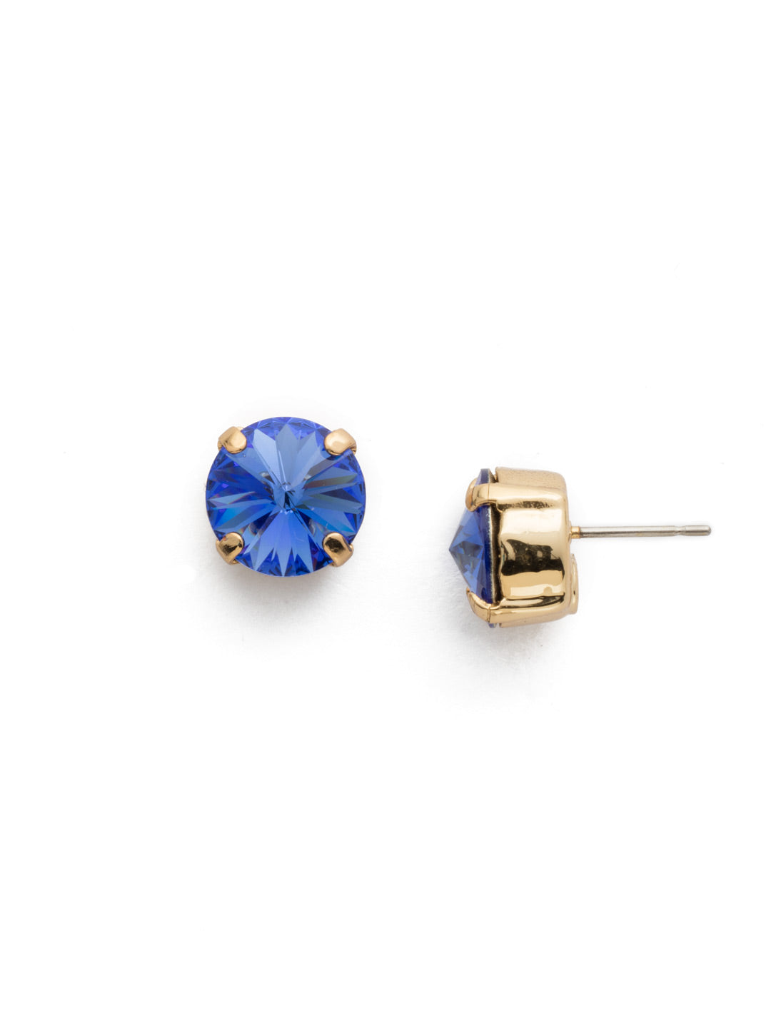 Round Crystal Stud Earrings - ECM14BGSAP