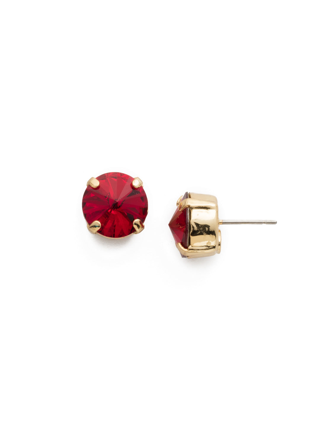 Round Crystal Stud Earrings - ECM14BGSI