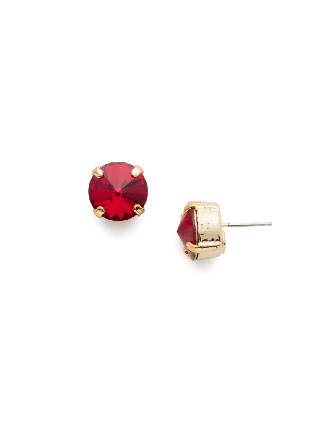 Round Crystal Stud Earrings - ECM14BGSRC