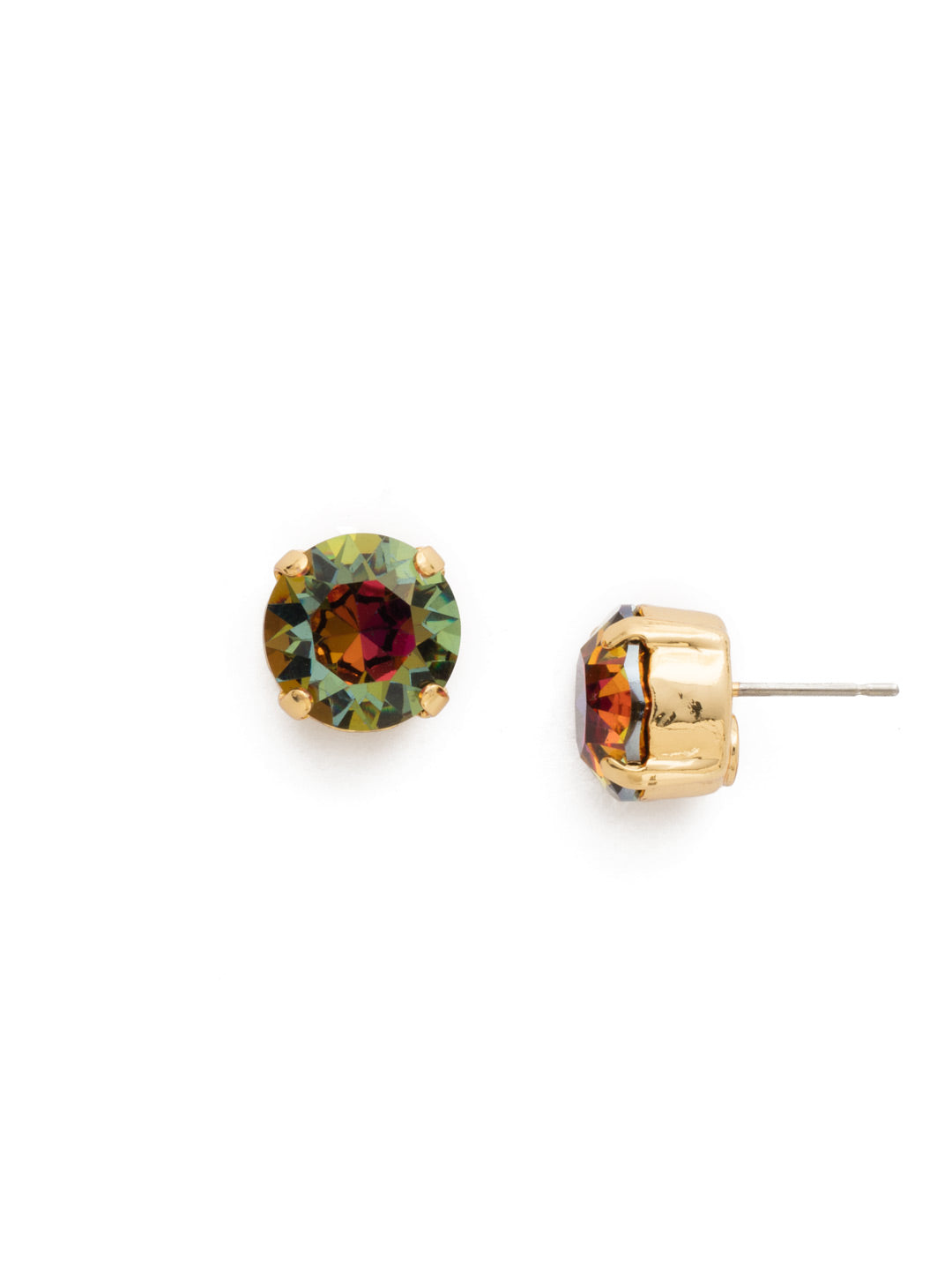 Round Crystal Stud Earrings - ECM14BGVO