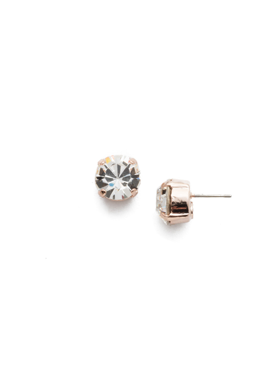 Round Crystal Stud Earrings - ECM14RGCRY