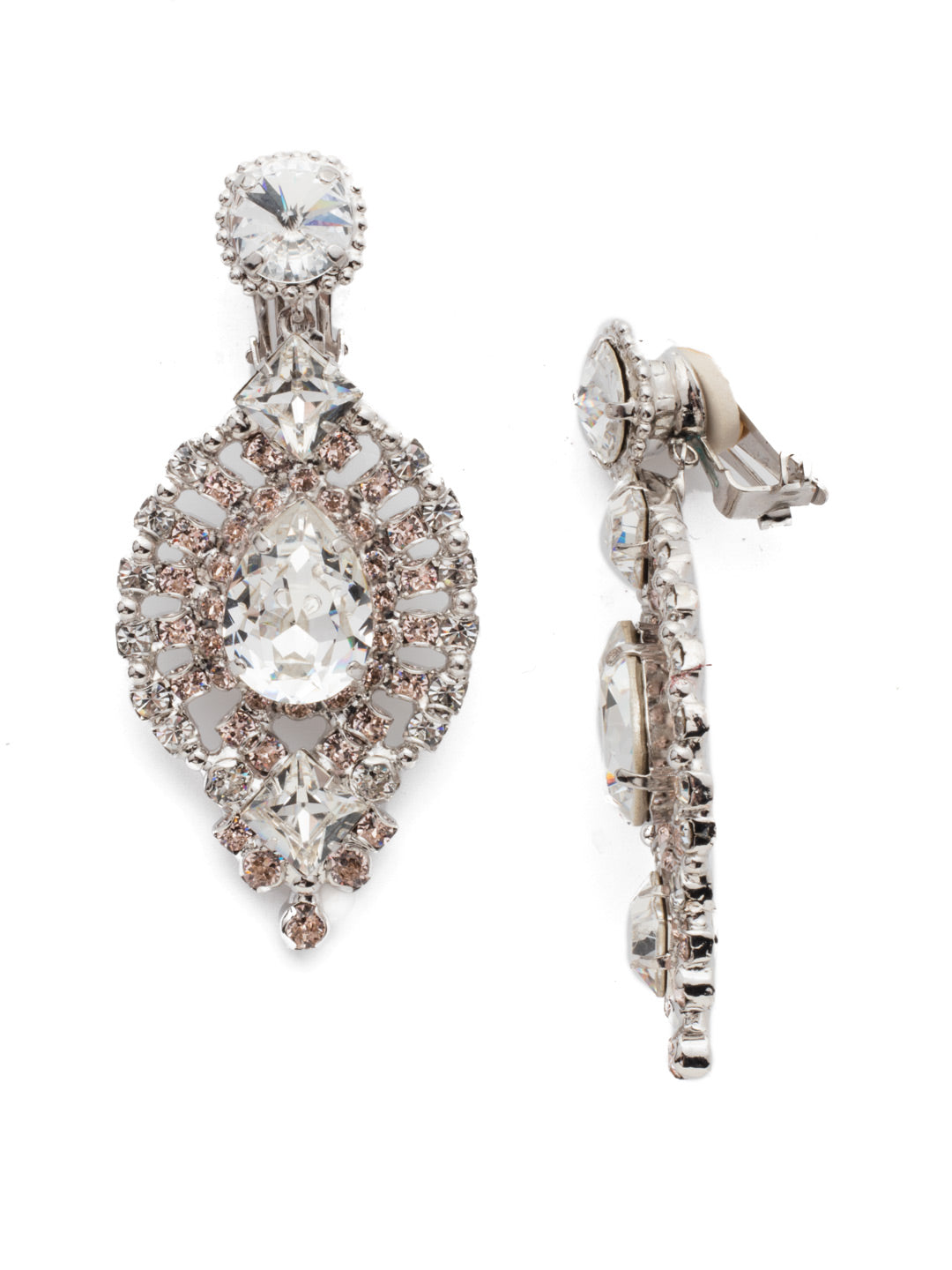 Ultimate Sparkle Clip On Earrings - ECQ39CRHPLS