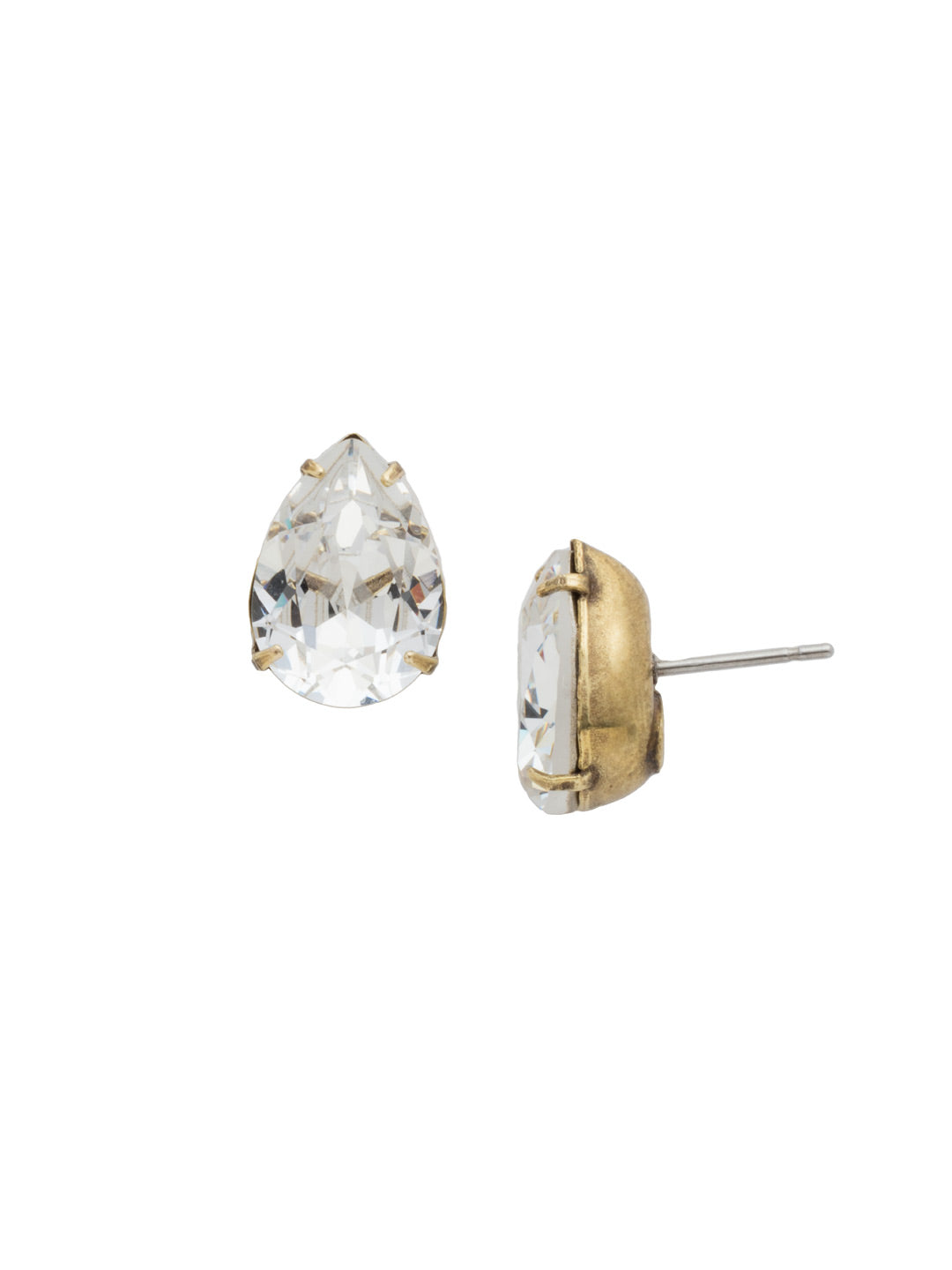 Classic Teardrop Post Earring - ECR115AGCRY