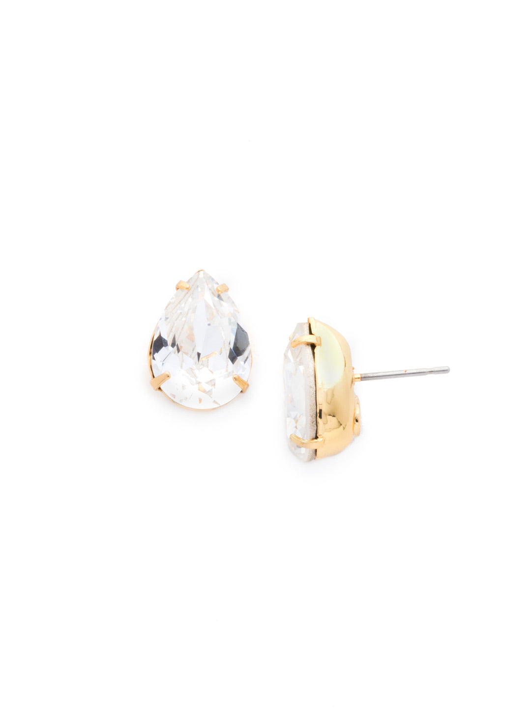 Classic Teardrop Post Earring - ECR115BGCRY