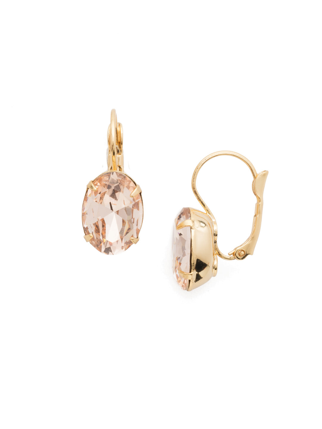 Oval Cut French Wire Earrings - ECR20BGSRC