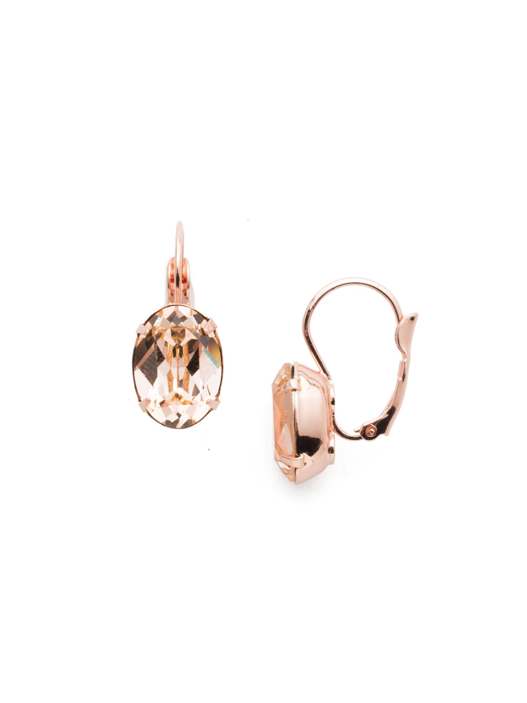 Oval Cut French Wire Earrings - ECR20RGLVP