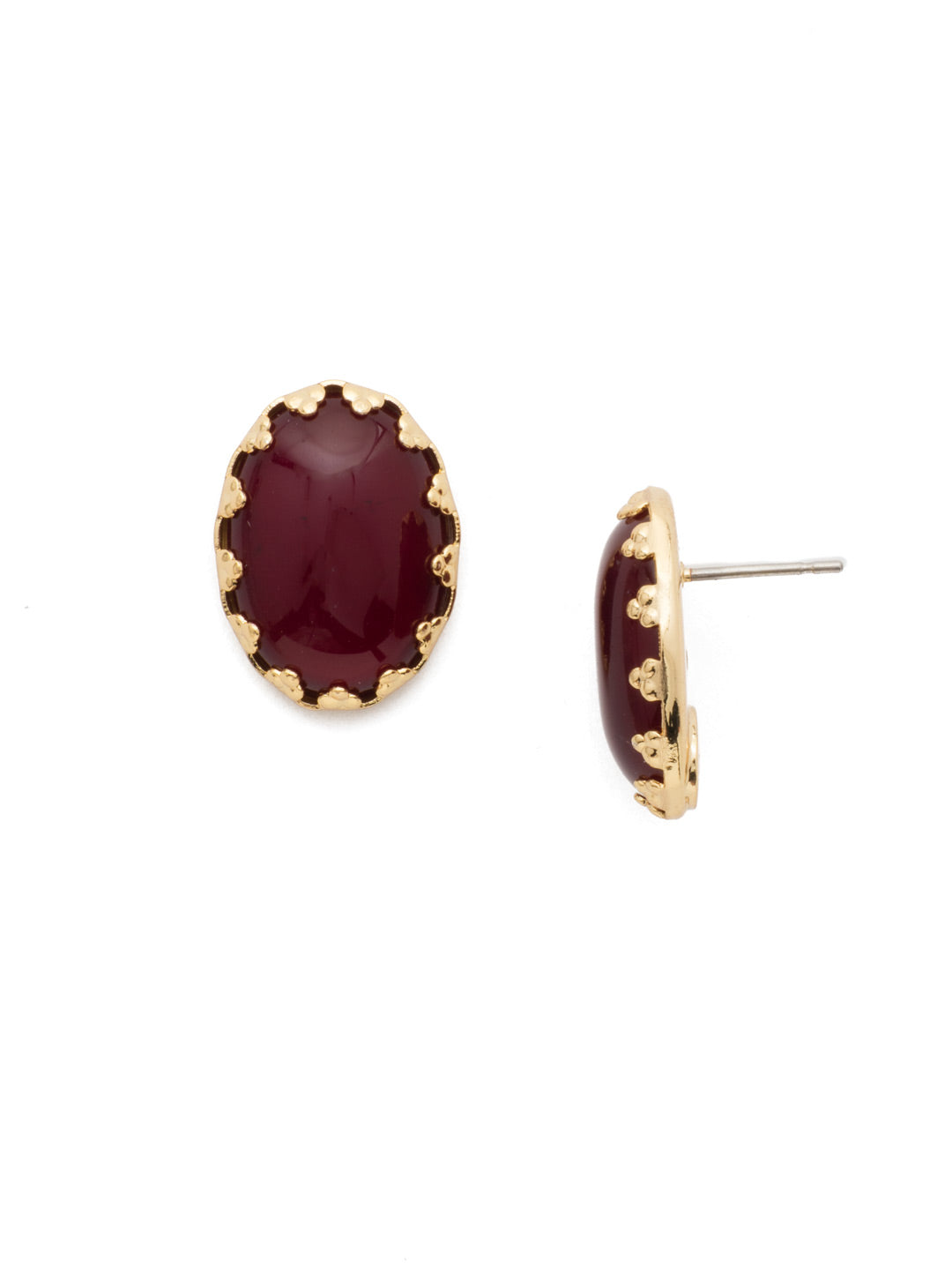 Oval Stud Earrings - ECT43BGSRC