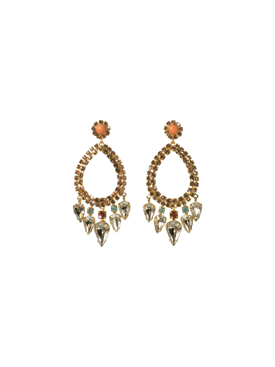 Outlined Teardrop Statement Earrings - ECU21BGCOR