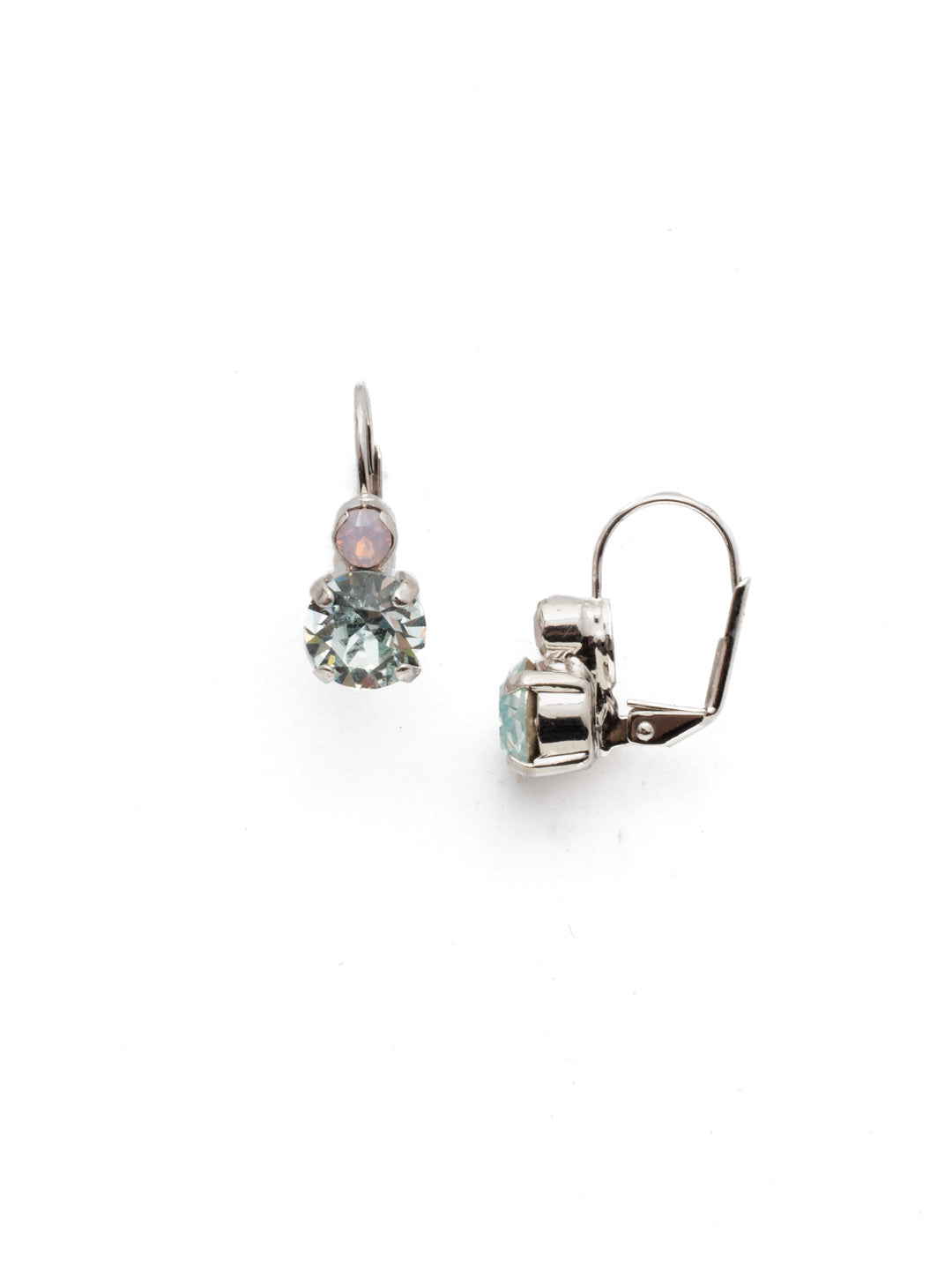 Round Crystal French Wire Earrings - ECW36RHTUL