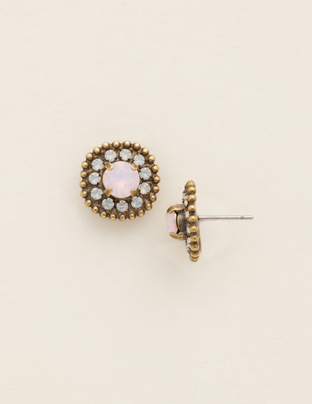 Accented Round Crystal Post Earring - ECY18AGROW
