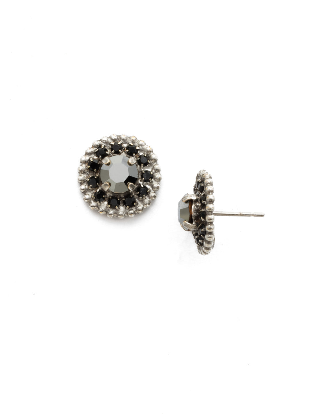Accented Round Crystal Post Earring - ECY18ASBON
