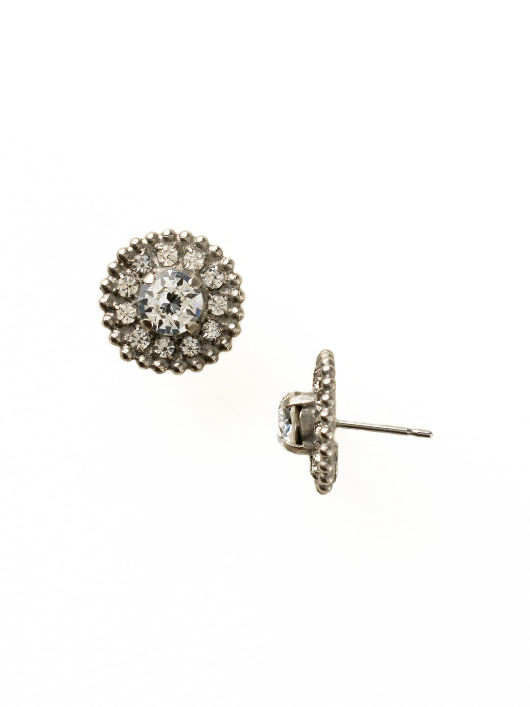 Accented Round Crystal Post Earring - ECY18ASCRY