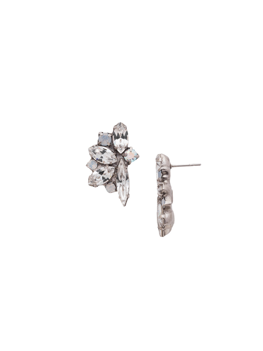 Fanned Vavette Stud Earrings - ECZ21ASWBR