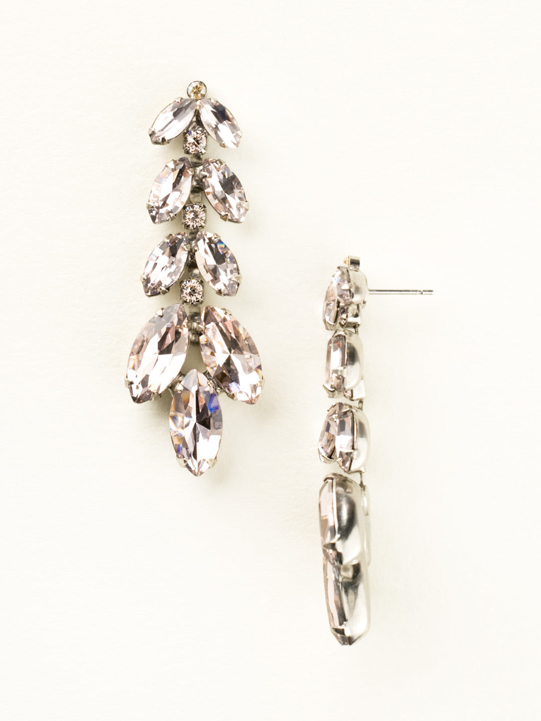 Repeating Navette Crystal Drop Earring - ECZ2ASSBL