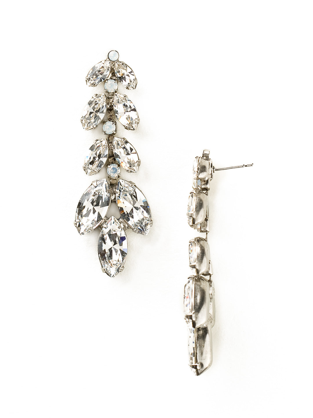 Repeating Navette Crystal Drop Earring - ECZ2ASWBR