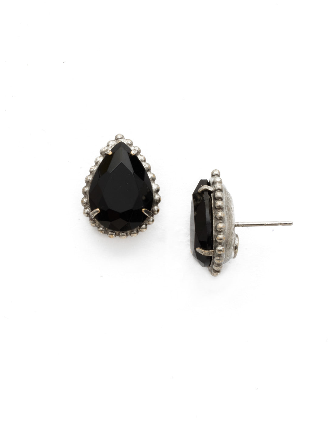 Pear Cut Solitaire Earring - EDA63ASBON