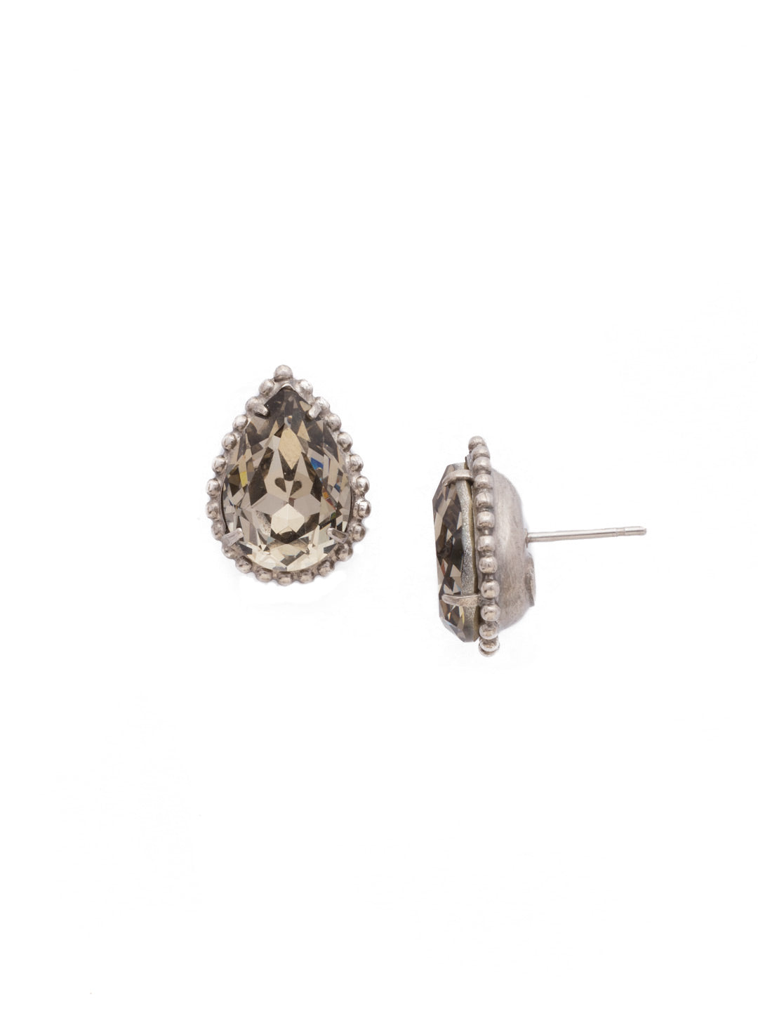 Pear Cut Solitaire Earring - EDA63ASCRO