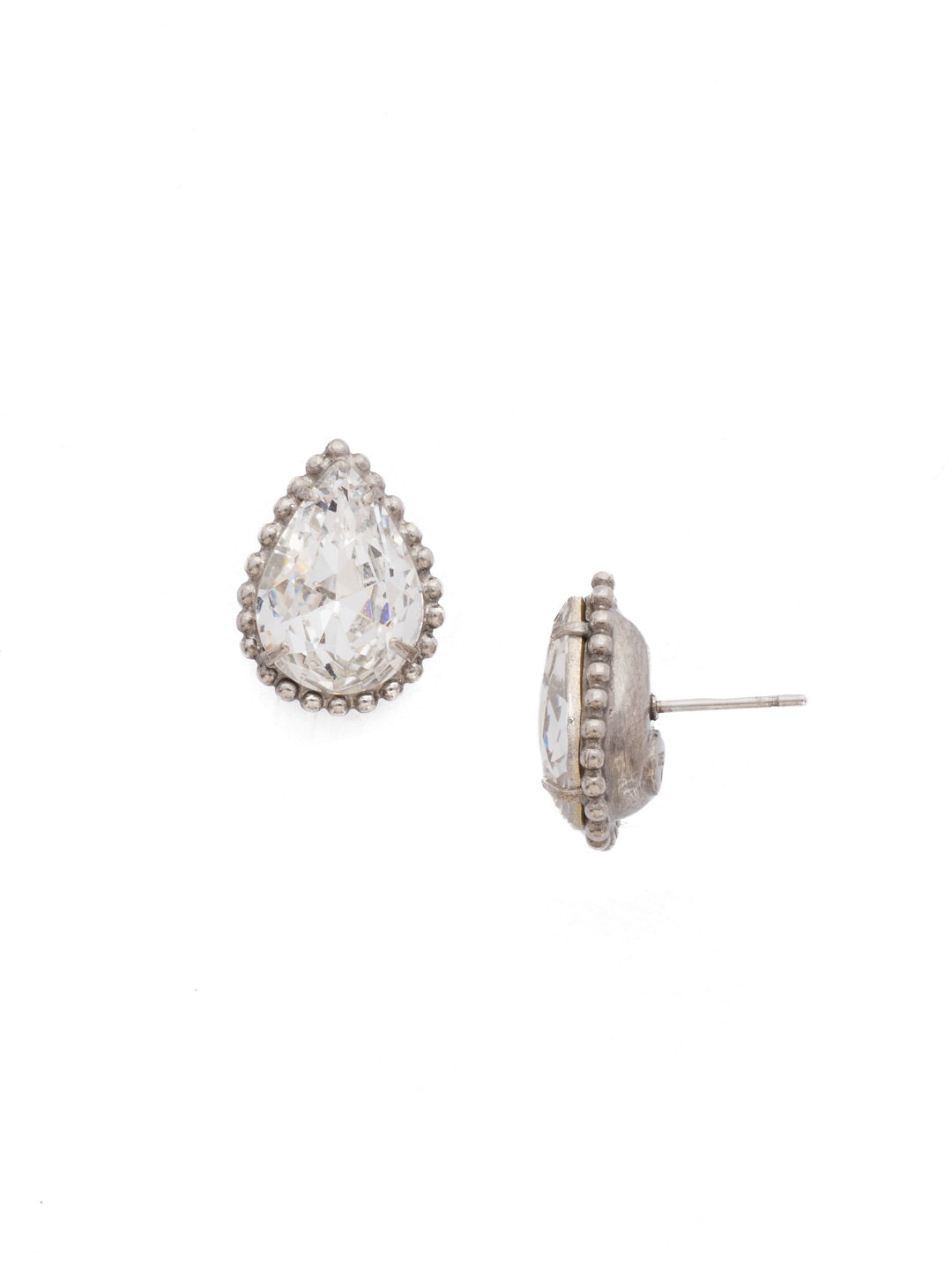 Pear Cut Solitaire Earring - EDA63ASCRY