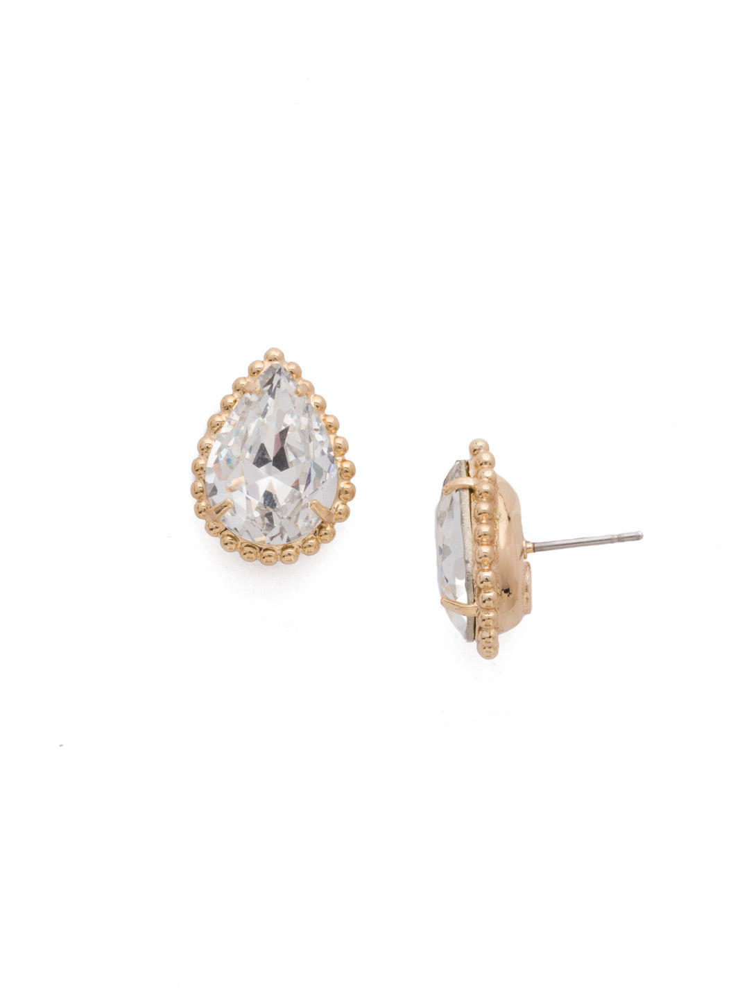 Pear Cut Solitaire Earring - EDA63BGCRY