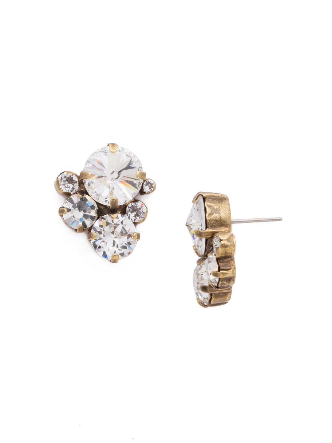 Crystal Assorted Rounds Stud Earrings - EDB11AGCRY