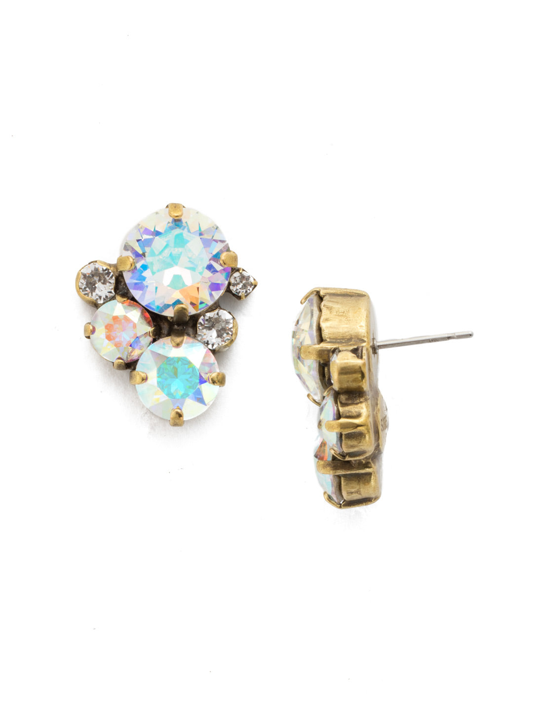 Crystal Assorted Rounds Stud Earrings - EDB11AGSNF