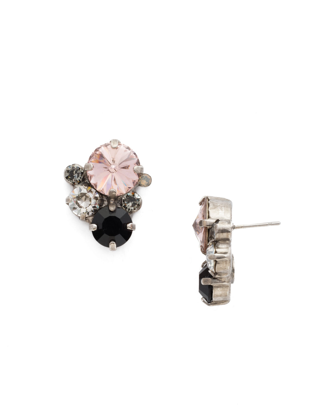 Crystal Assorted Rounds Post Earring - EDB11ASCNO
