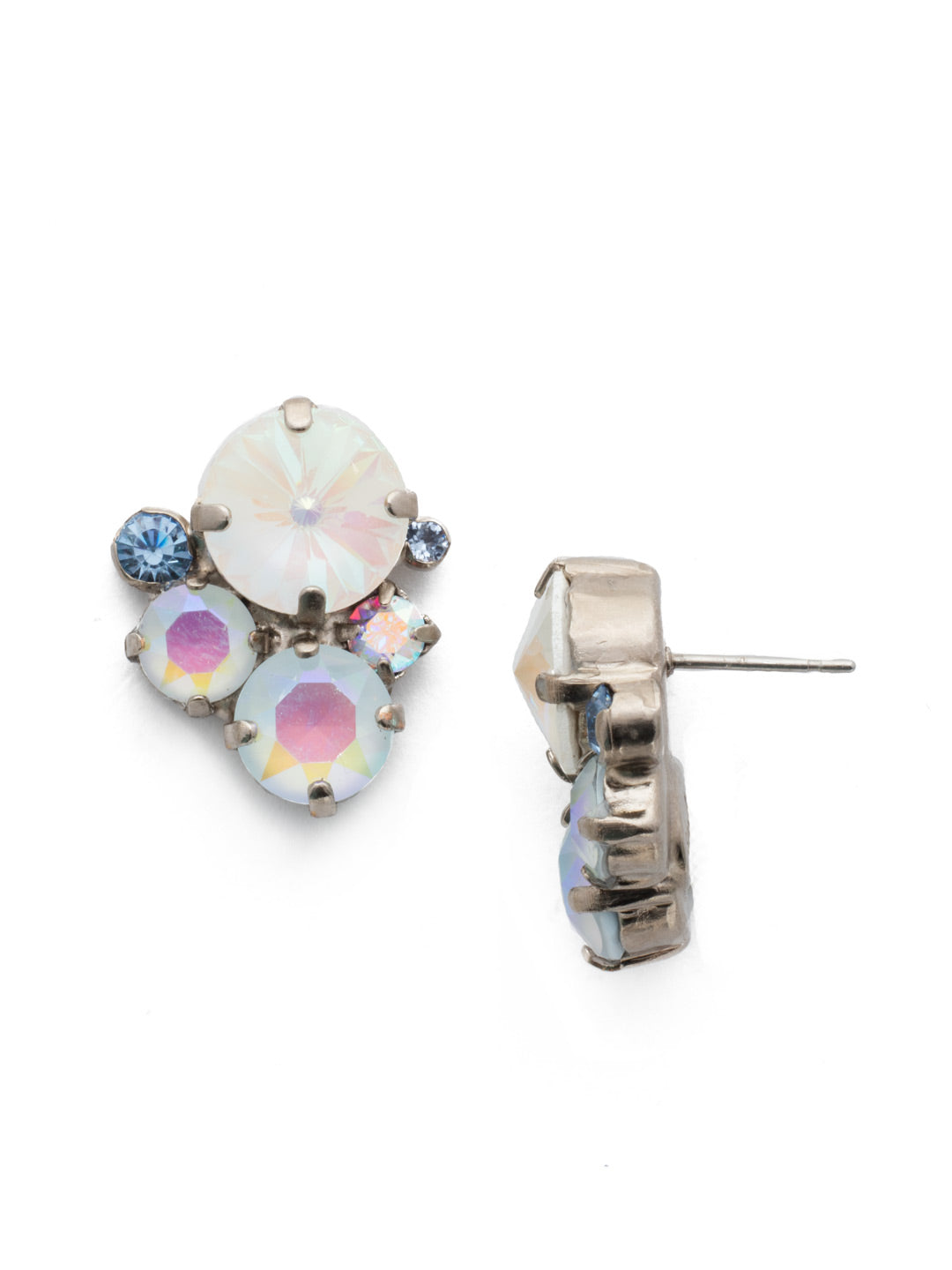Crystal Assorted Rounds Stud Earrings - EDB11ASGLC