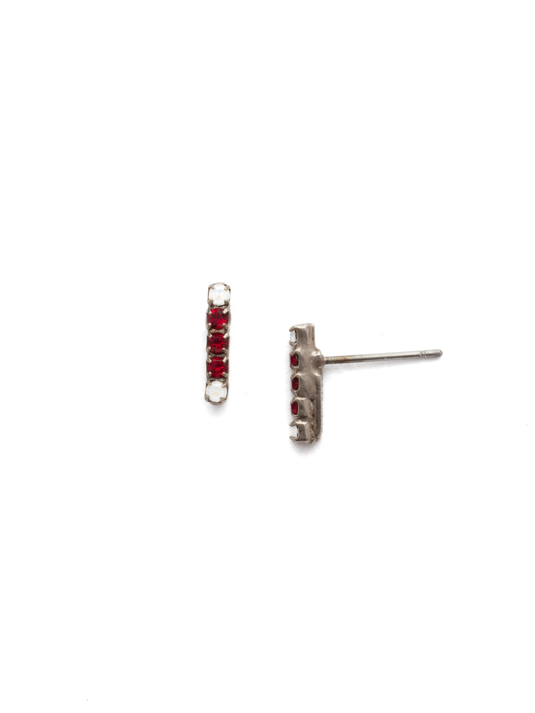 Rhinestone Bar Stud Earrings - EDD1ASCP