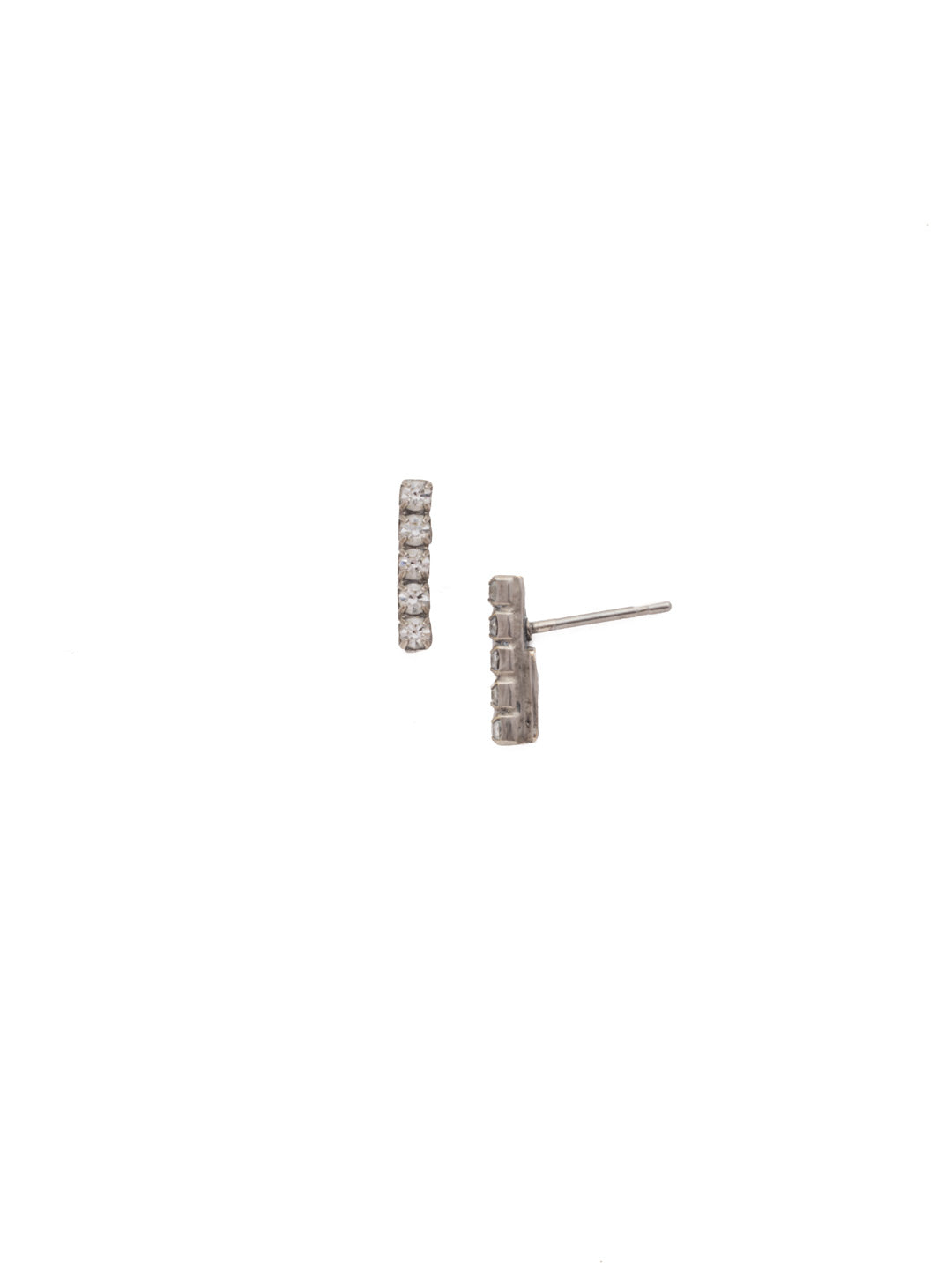 Rhinestone Bar Stud Earrings - EDD1ASCRY