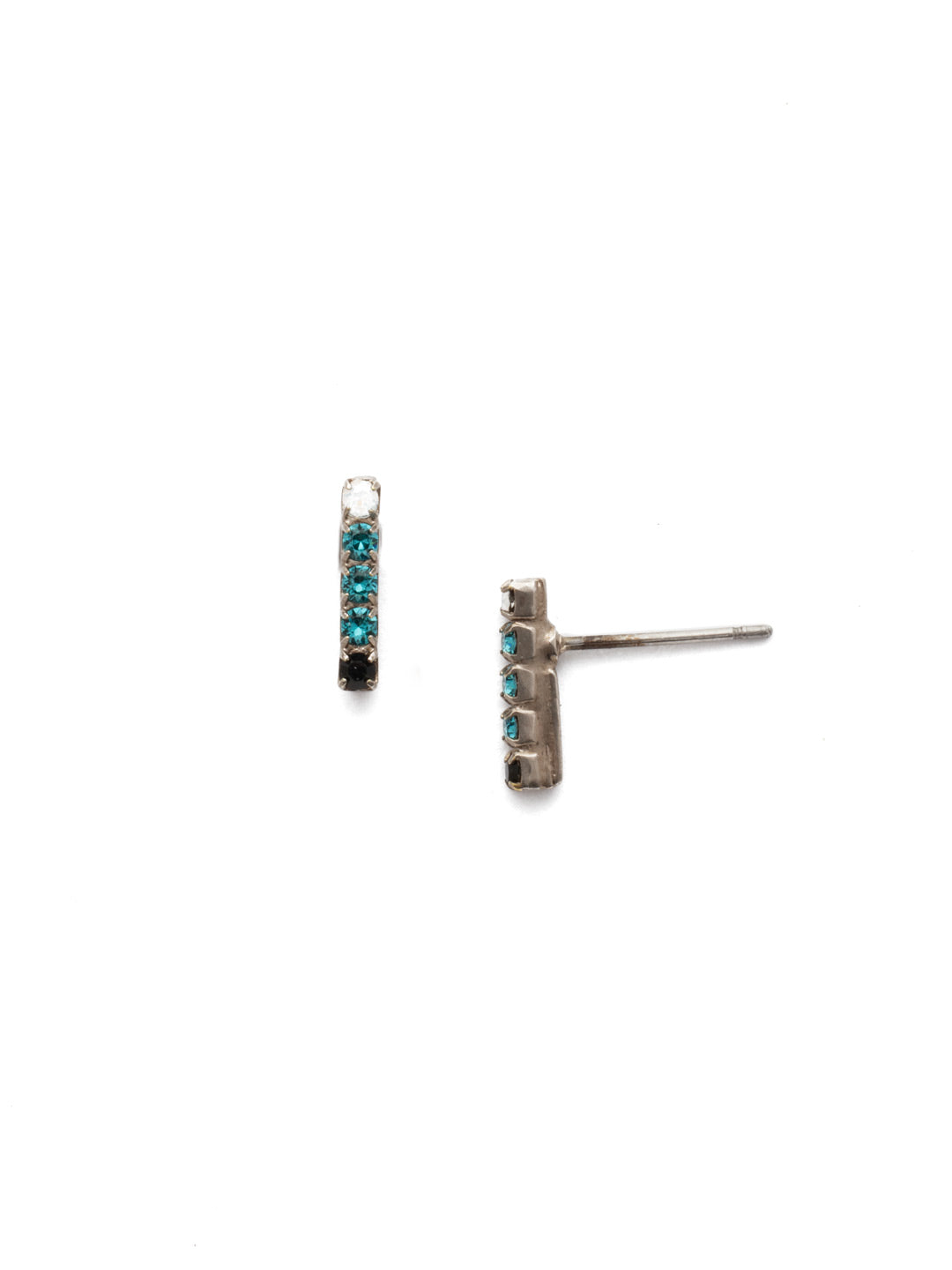 Rhinestone Bar Stud Earrings - EDD1ASGDG