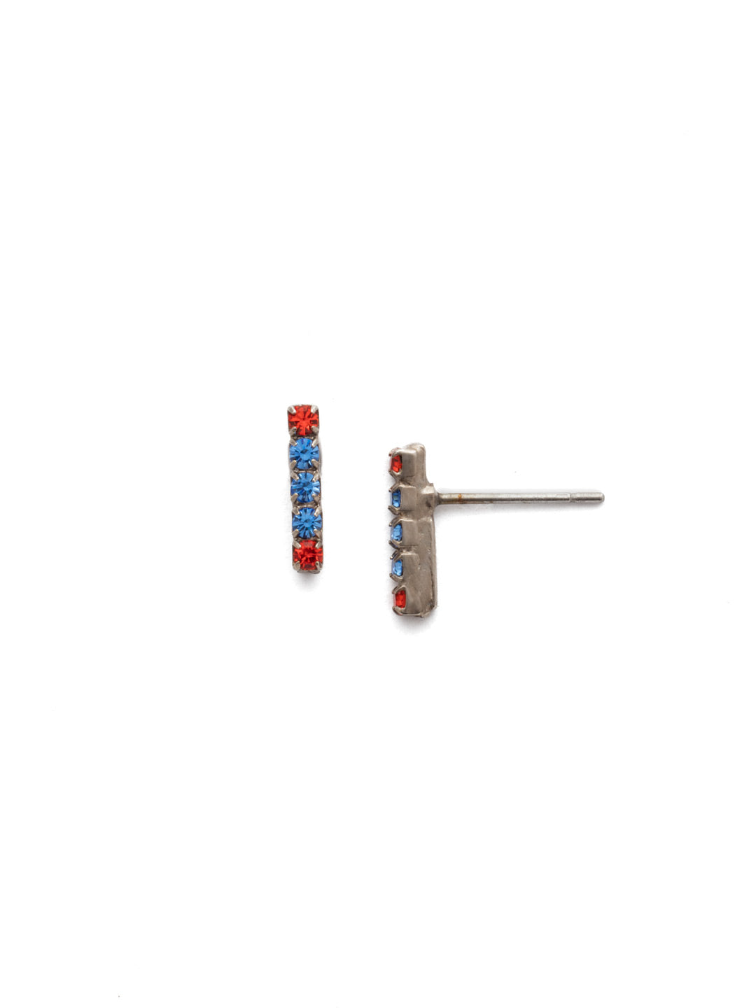 Rhinestone Bar Stud Earrings - EDD1ASOCR