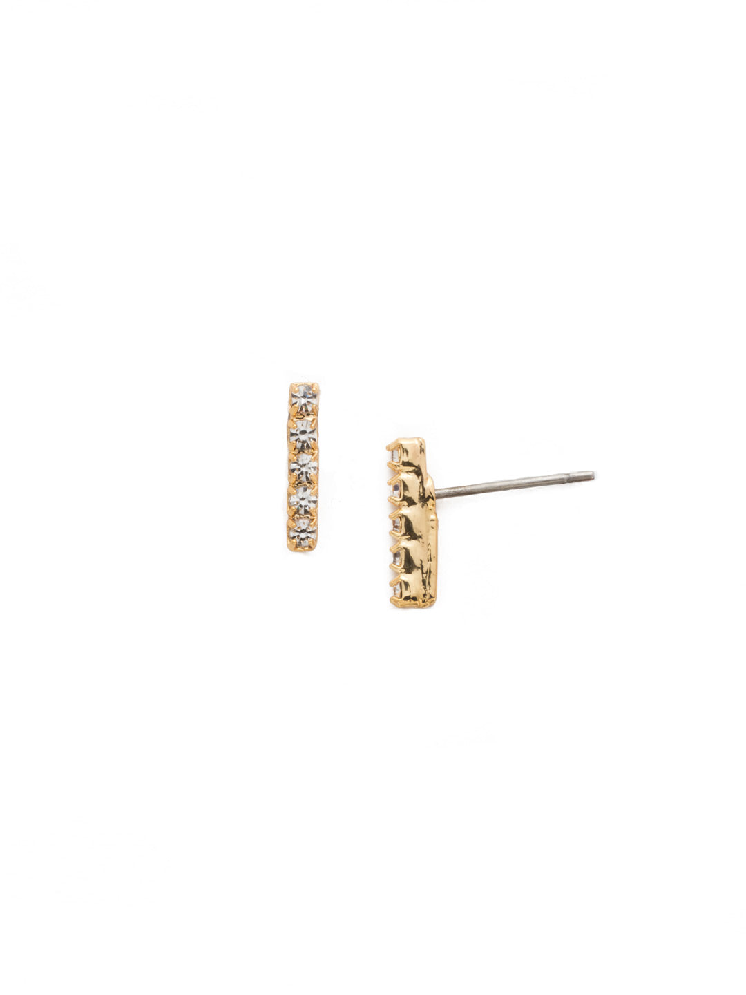 Rhinestone Bar Stud Earrings - EDD1BGCRY