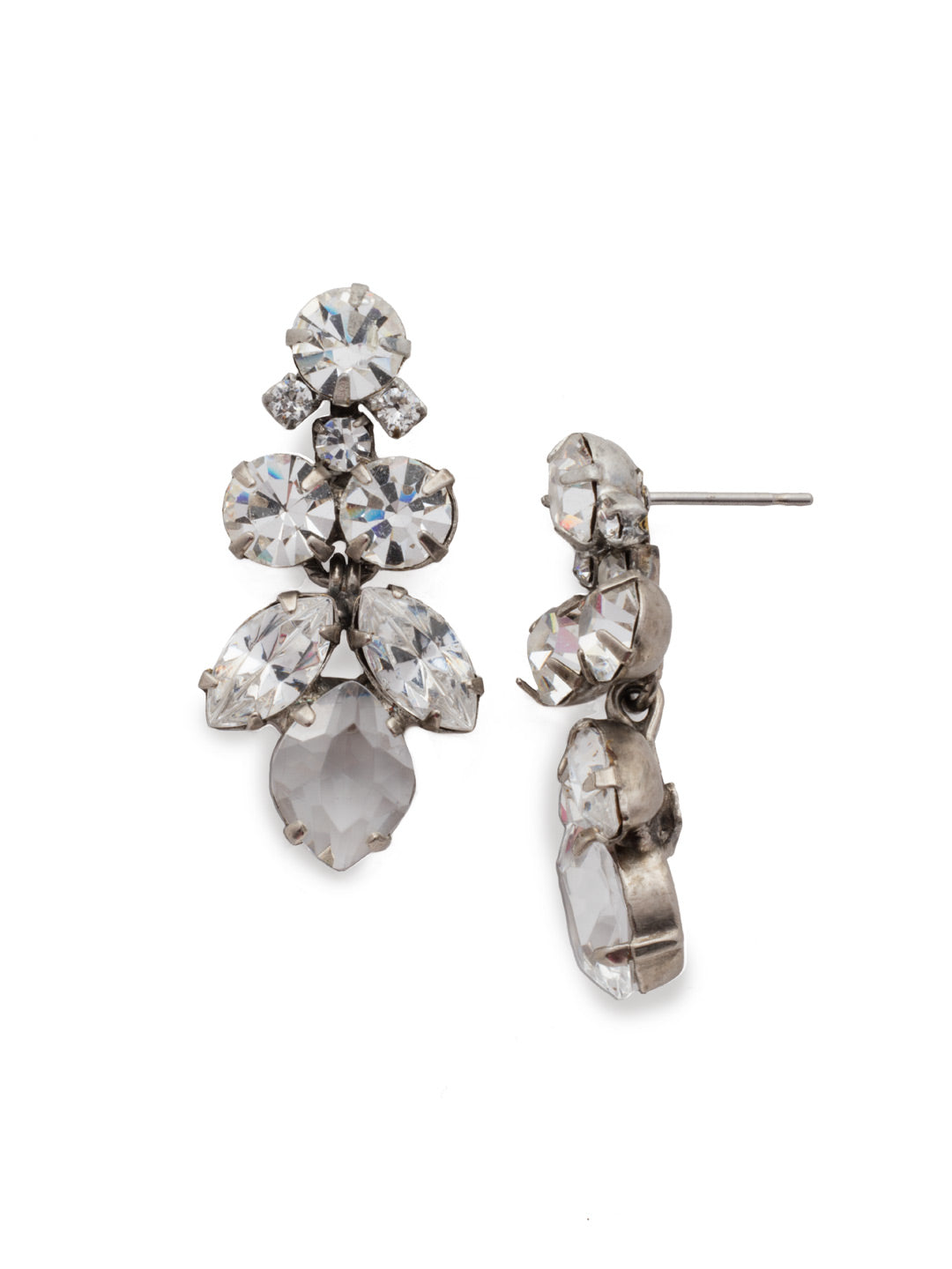 Petite Crystal Lotus Flower Earring - EDE79ASCRY