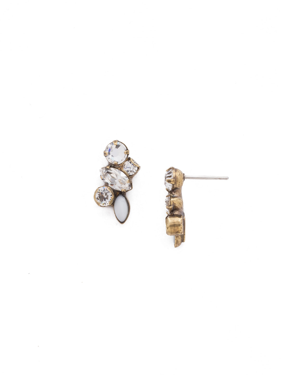 Petite Crystal Cluster Post Earrings - EDG5AGCRY