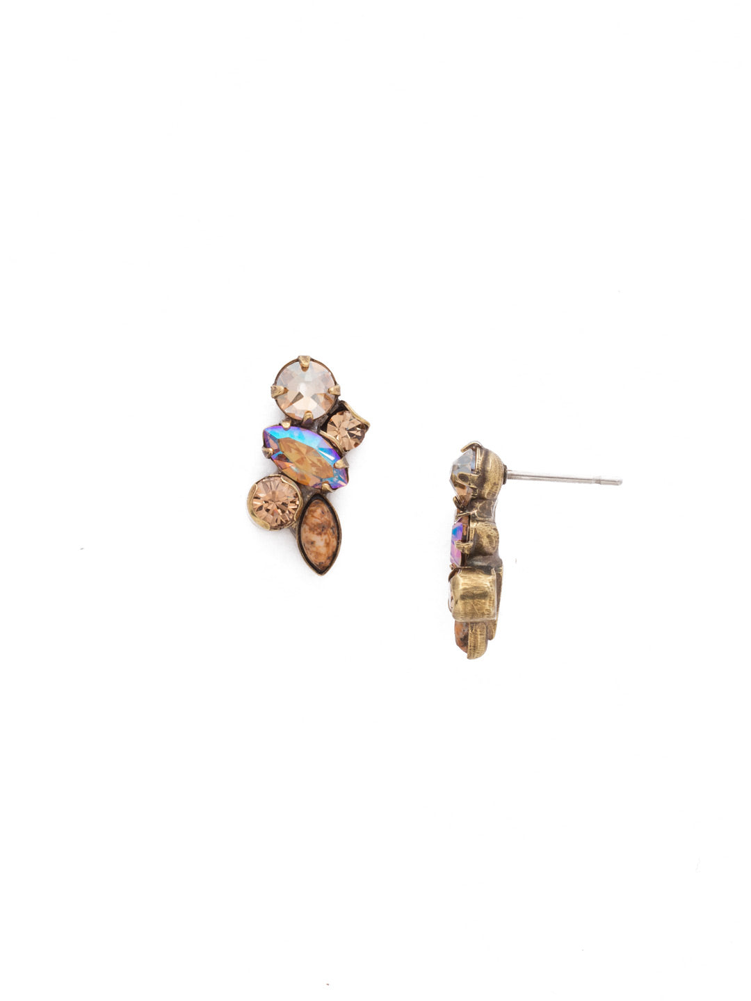 Petite Crystal Cluster Post Earrings - EDG5AGNT