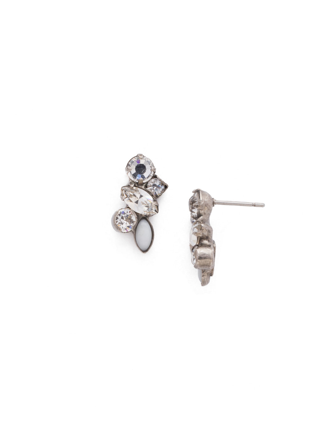 Petite Crystal Cluster Post Earrings - EDG5ASCRY