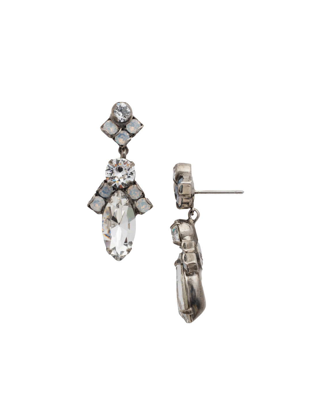 Elegant Navette Dangle Earrings - EDG85ASWBR