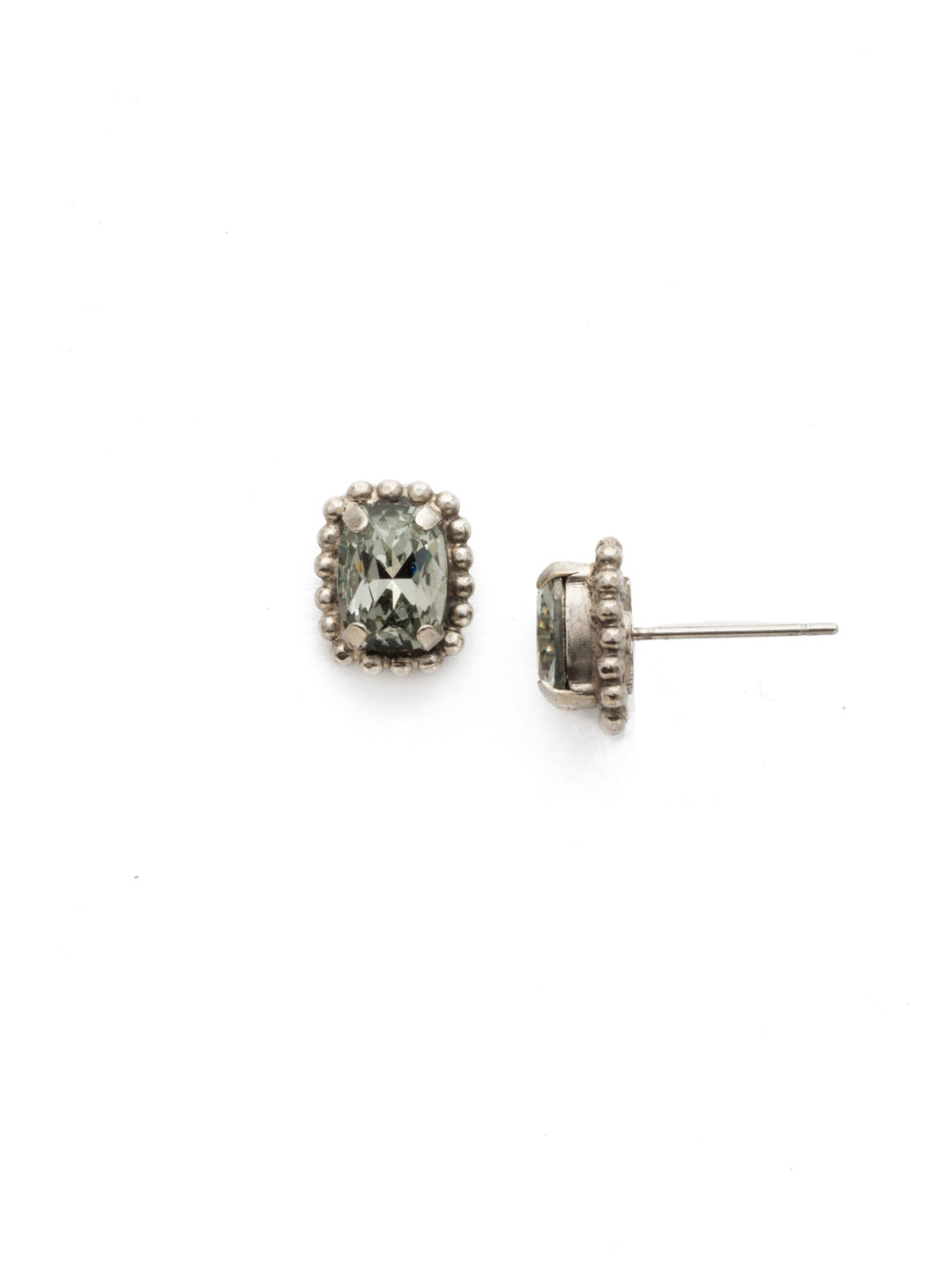 Mini Emerald Embellished Post Earring - EDH41ASCRO