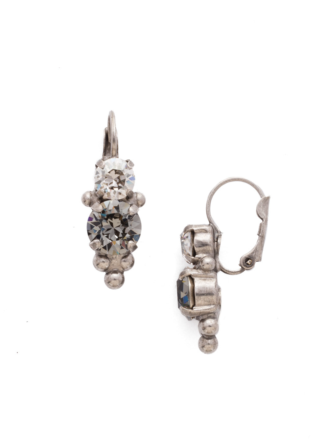 Ornate Crystal Rounds French Wire Earring - EDH47ASCRO