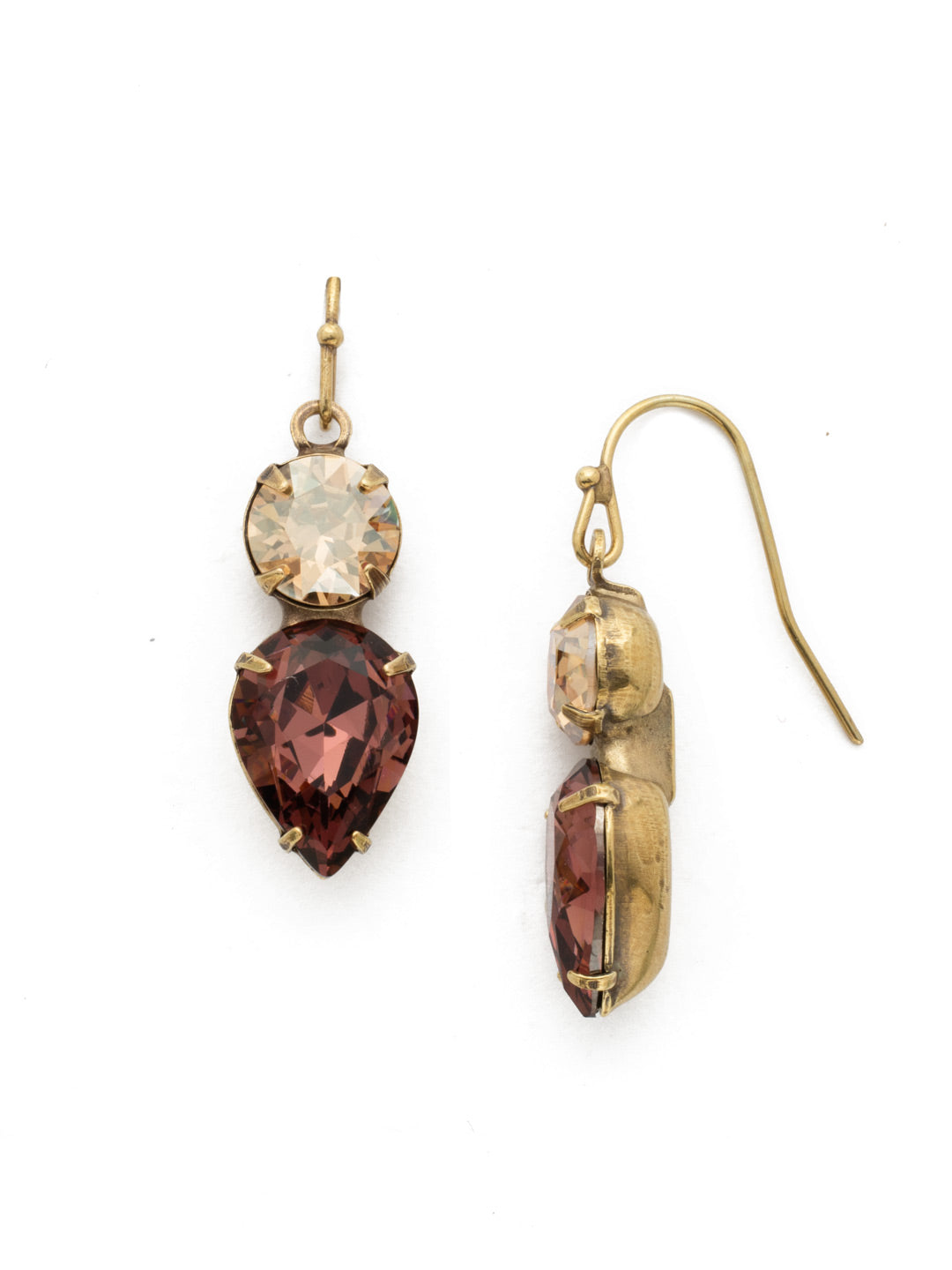 Brilliant Teardrop Dangle Earrings - EDH62AGMMA