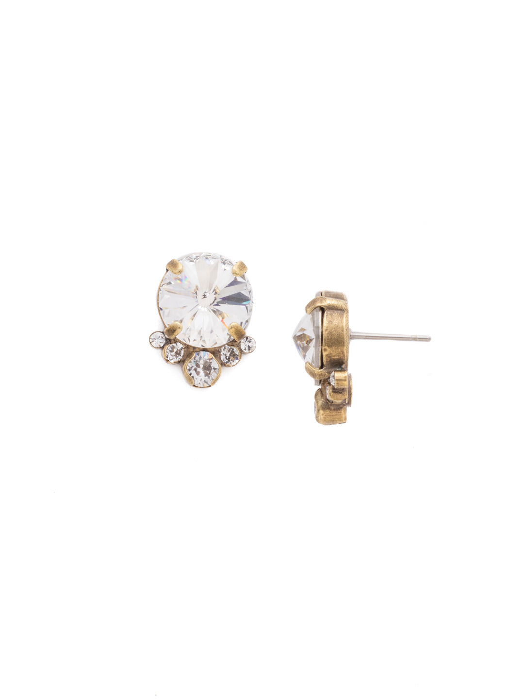 Regal Rounds Stud Earrings - EDH98AGCRY