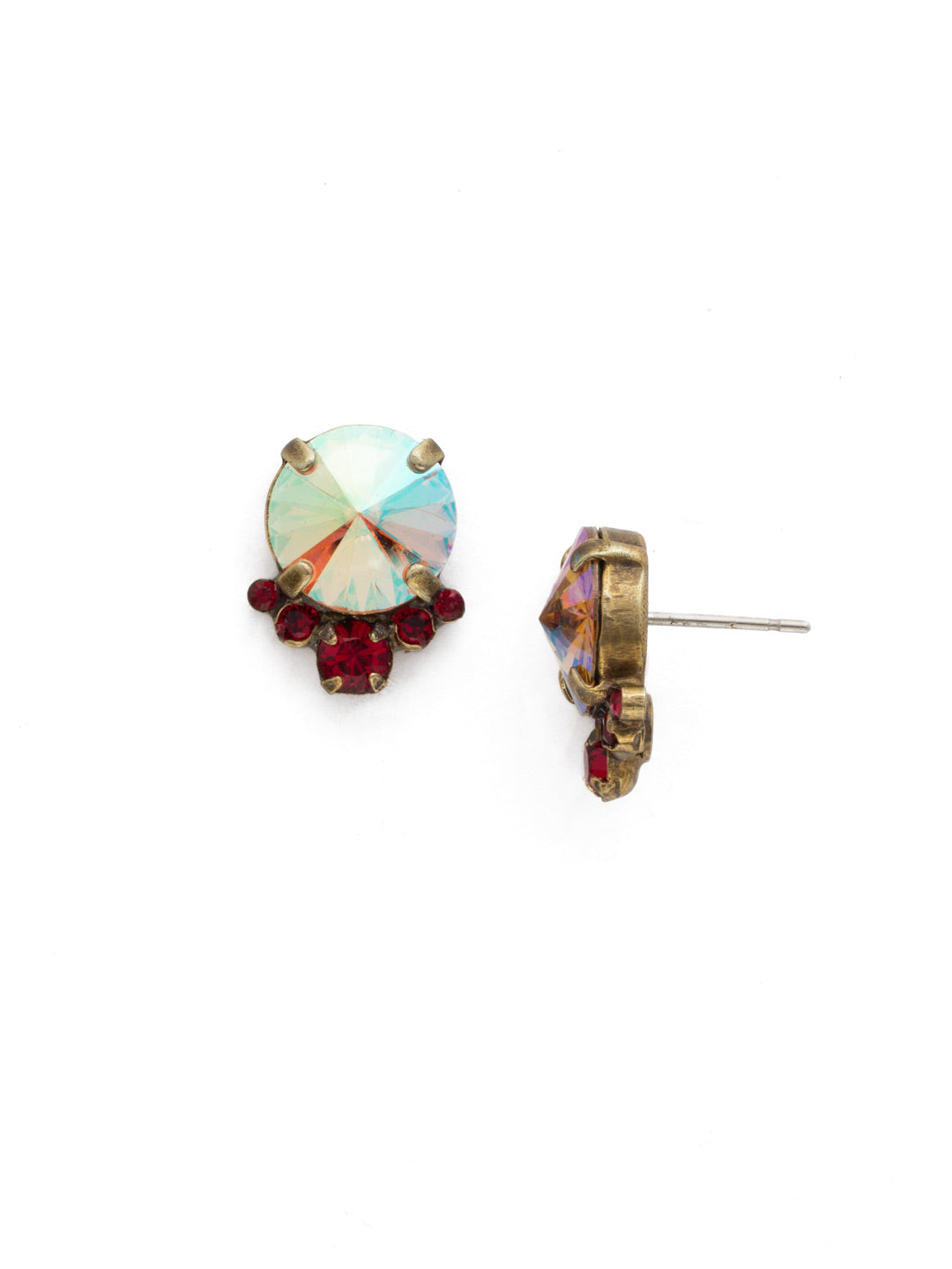 Regal Rounds Stud Earrings - EDH98AGGGA