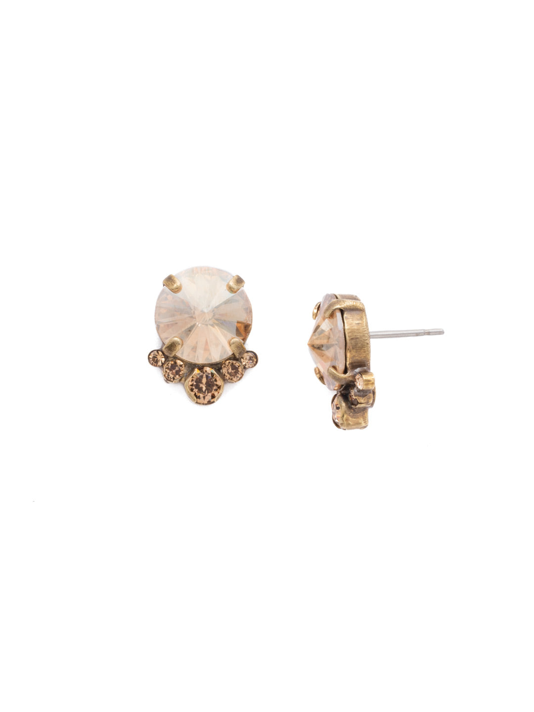Regal Rounds Stud Earrings - EDH98AGNT